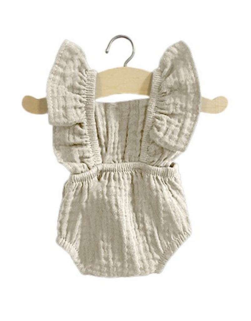 Retro Lou Double Gauze Romper - Mastic - Ellie & Becks Co.