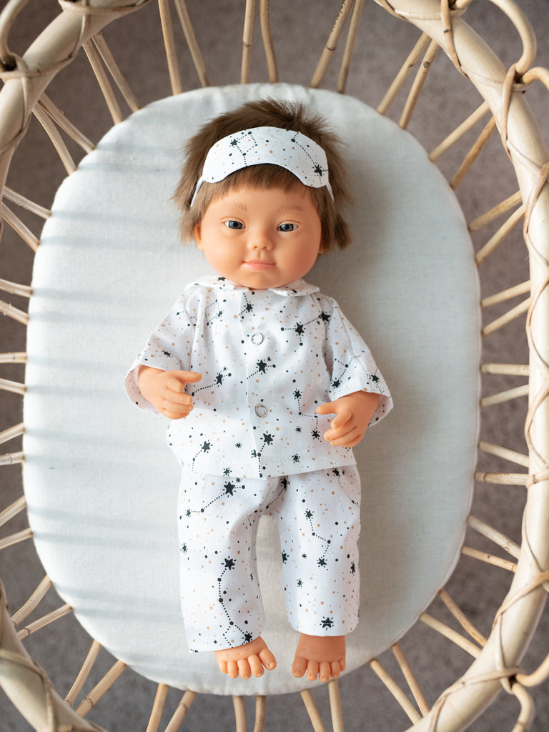 White Constellation Pajama Set - Ellie & Becks Co.