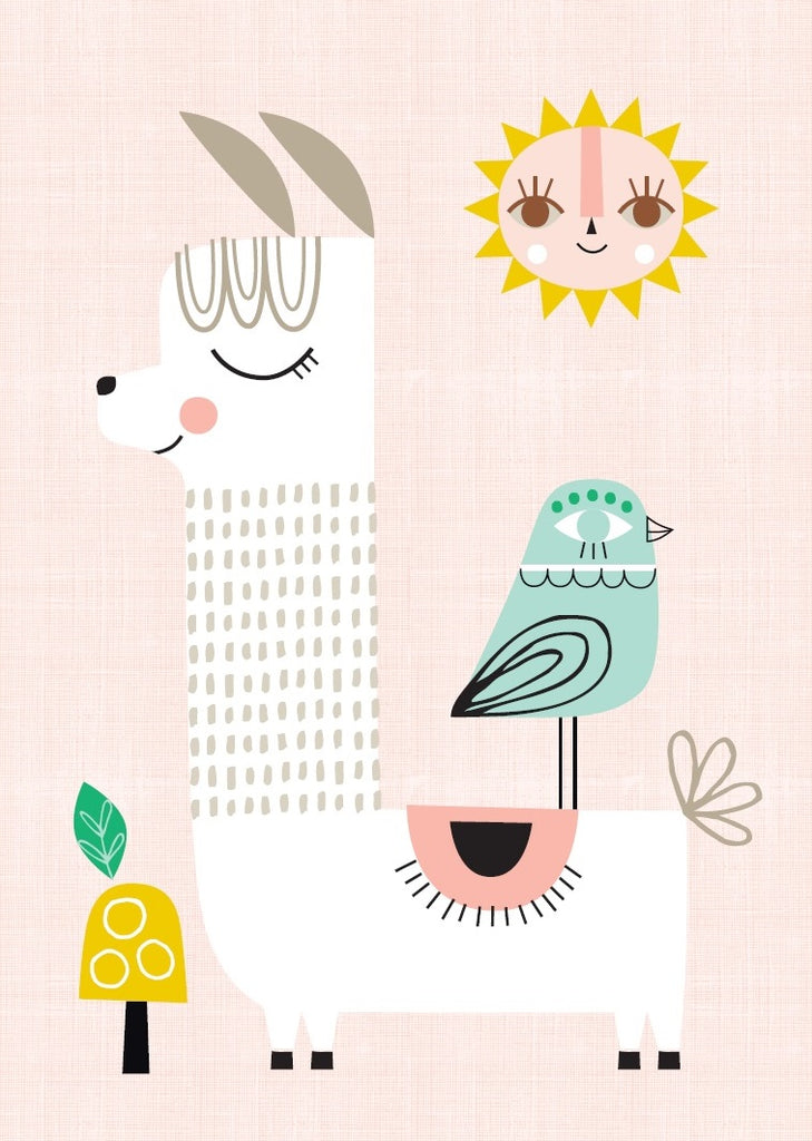 Sunshine Llama Poster - Ellie & Becks Co.