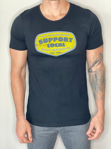 Support Local Split Hem T-shirt