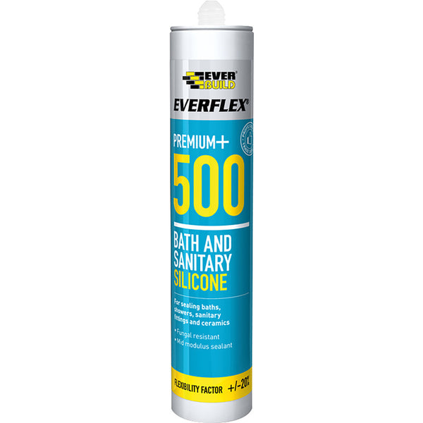 Everbuild 500 Sanitary Silicone - Box of 25