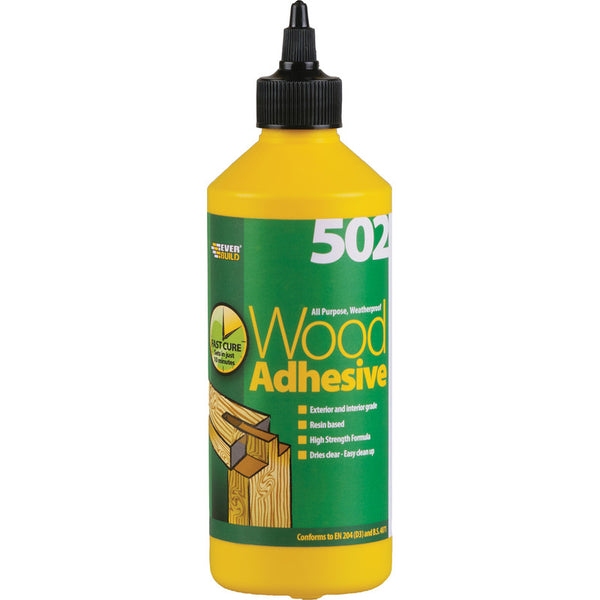 Everbuild 502 Wood Adhesive 1 LTR - Box of 12