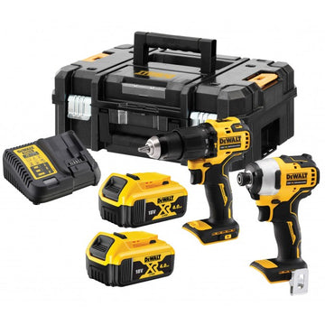 DeWalt DCK2062M2T-GB 18v 2x4.0Ah XR Li-ion Brushless Drill Driver/Impact Driver Twin Kit