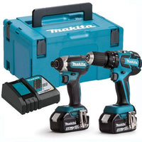 Makita DLX2131TJ 18v LXT DHP482 Combi Drill & DTD152 Impact Driver Twin Kit with 2x 5.0Ah Batteries