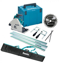 Makita DSP600ZJ 18V LXT 2 x 18v (36V) Brushless Cordless Plunge Saw - Body Only With MakPac Case & Rail Kit