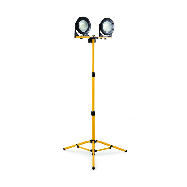 Defender DF1200 - 20W LED Twin Head Work Light with Fixed Leg Tripod