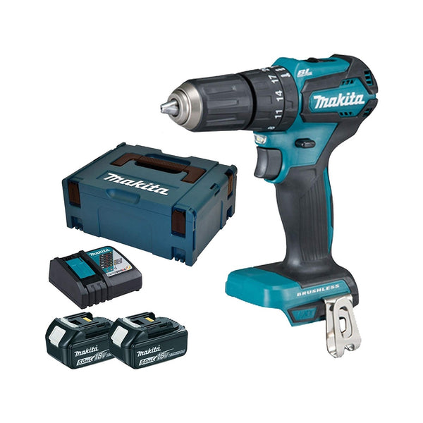 Makita DHP483RTJ-2 18V Brushless Combi Drill 2 x 5.Ah Batteries
