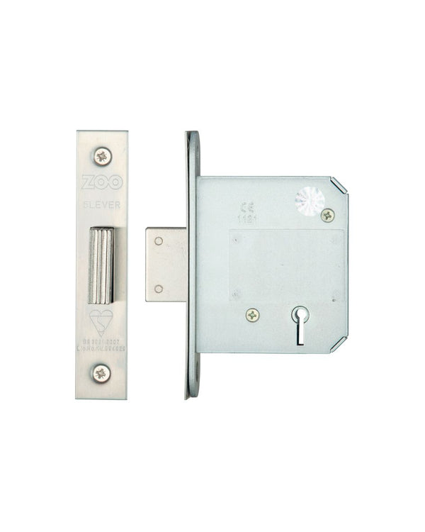 Zoo Hardware ZBSD76PVD British Standard 5 Lever Deadlock 76mm Brass