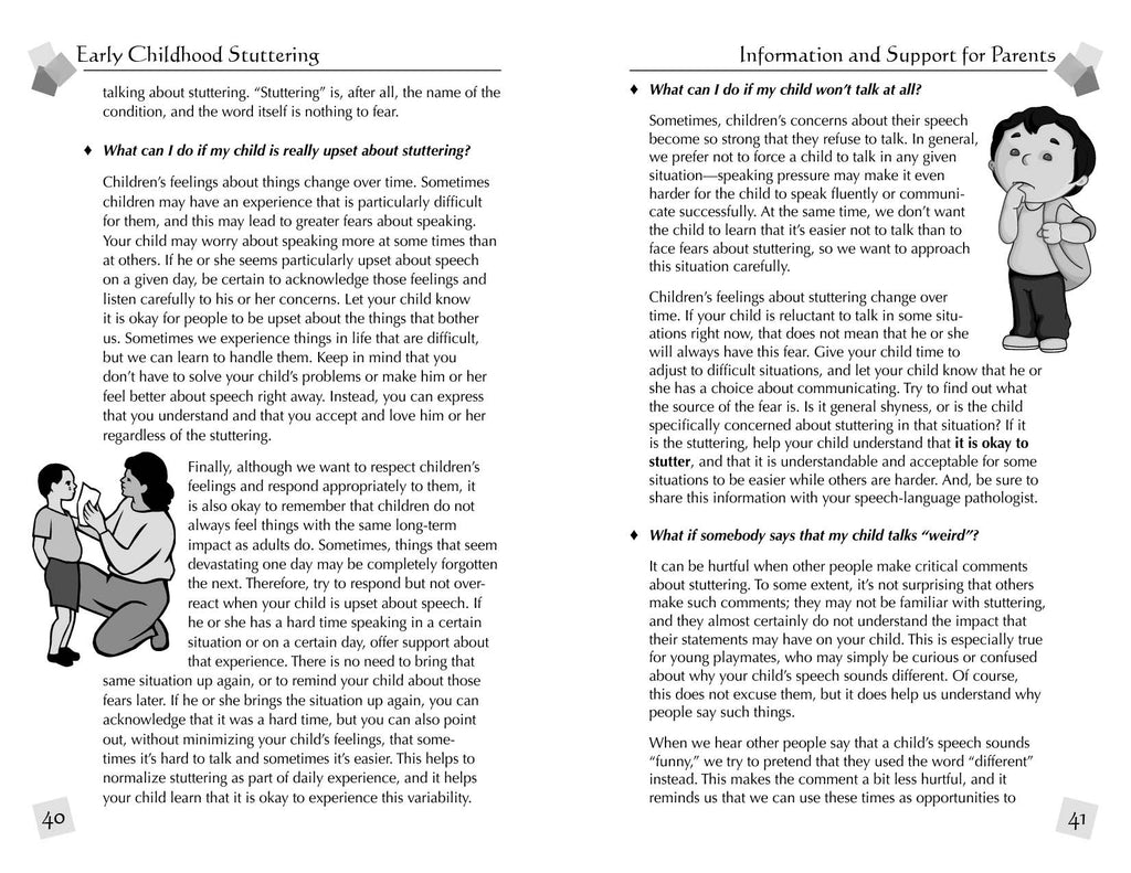 Stuttering Therapy Resources Early Childhood Information Support for Parents Sample Spread 2