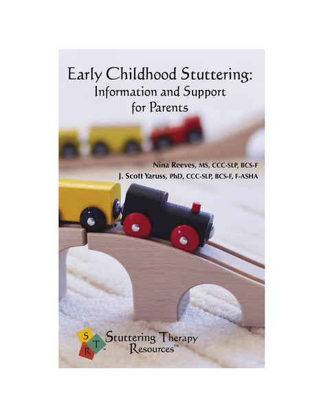 Stuttering Therapy Resources Early Childhood Information Support for Parents Front Cover