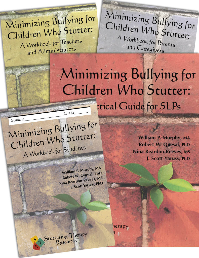 Stuttering Therapy Resources Minimizing Bullying for Children Composite Image