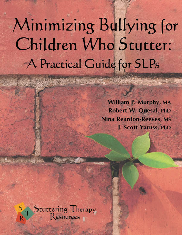 Stuttering Therapy Resources Minimizing Bullying for Children Speech-Language Pathologist SLP Guide Front Cover