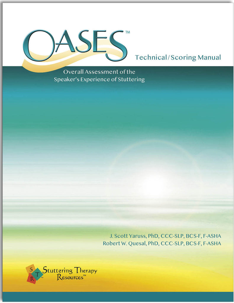Stuttering Therapy Resources Overall Assessment of the Speaker's Experience of Stuttering OASES Translation Pack Technical/Scoring Manual Image
