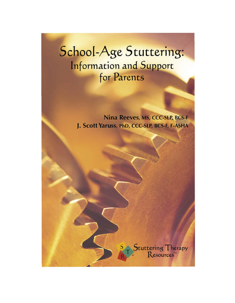 Stuttering Therapy Resources School-Age Parent Front Cover