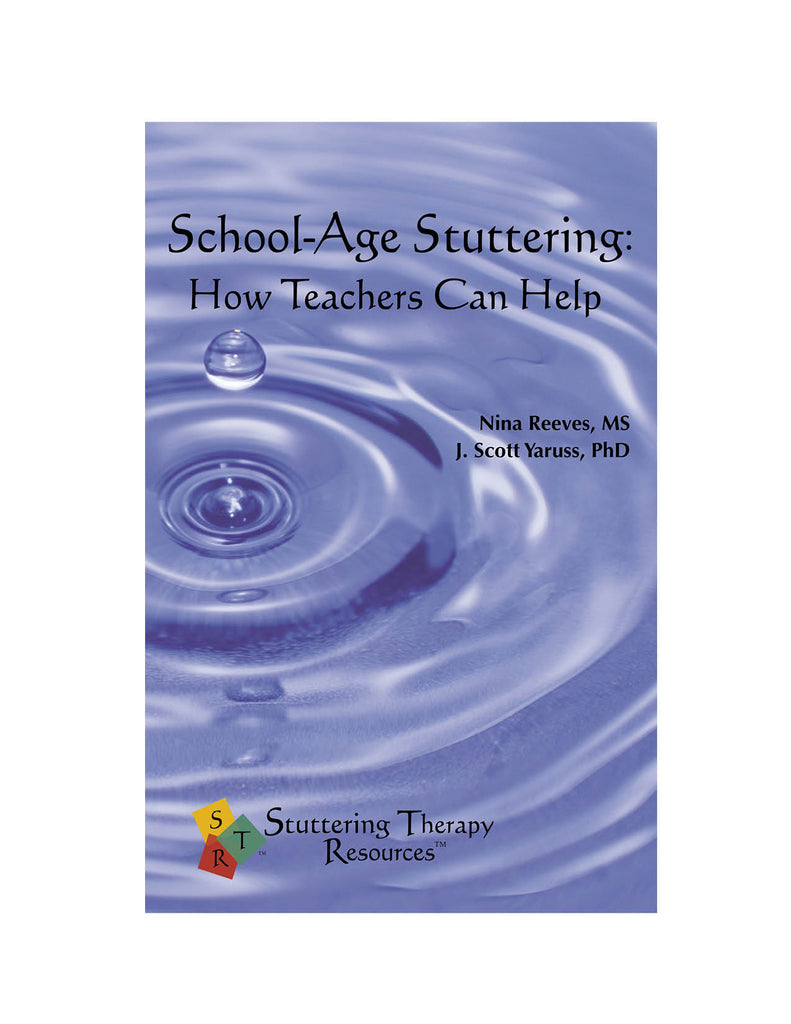 Stuttering Therapy Resources School-Age Teacher Front Cover