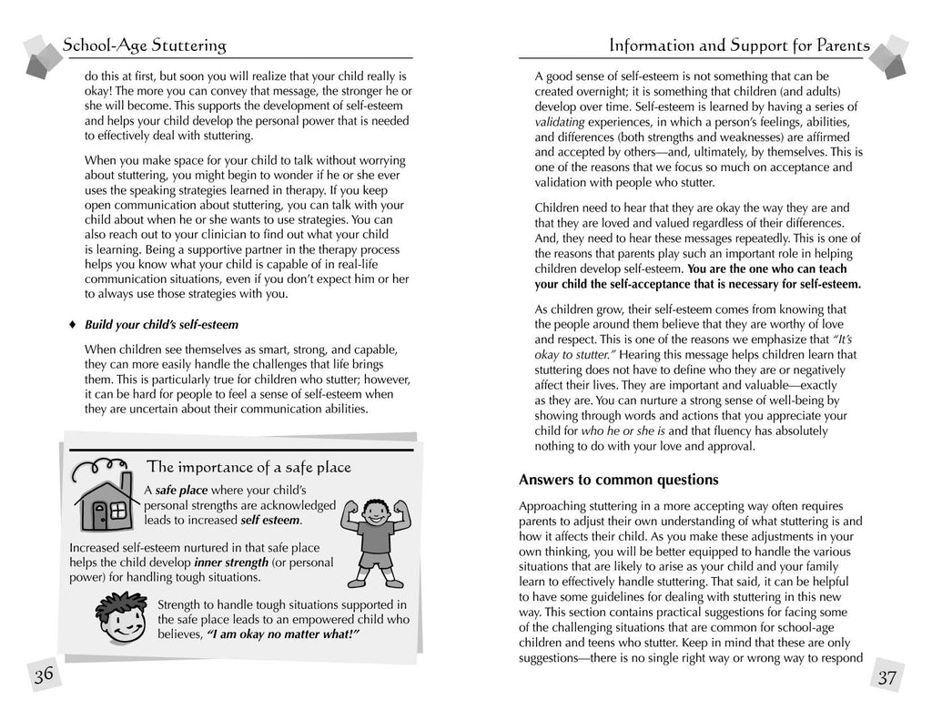 Stuttering Therapy Resources School-Age Parent Sample Spread 2