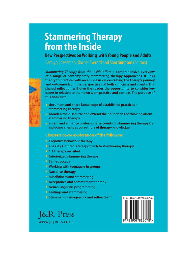 Stuttering Therapy Resources Stammering Therapy from the Inside Back Cover