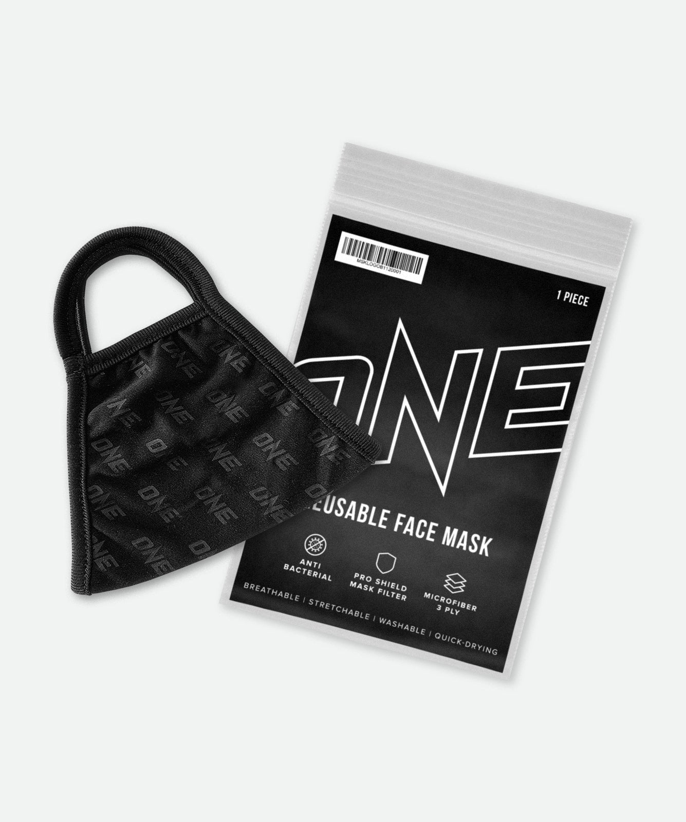 ONE Face Mask (Black Logo) - ONE Championship | ONE.SHOP