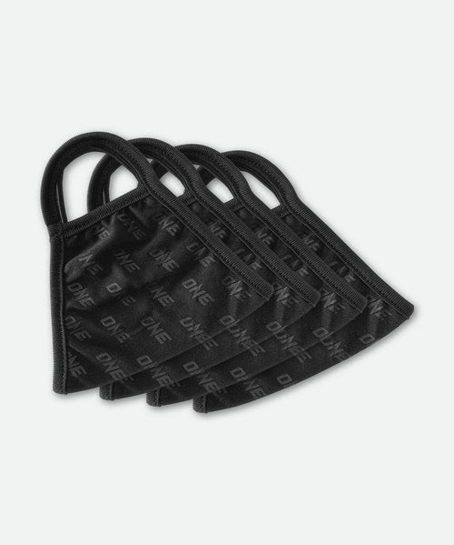 ONE Face Mask - Black Logo (Set of 4) - ONE Championship | ONE.SHOP