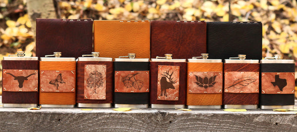 Leather Flasks and Journals handmade in Aspen, Colorado