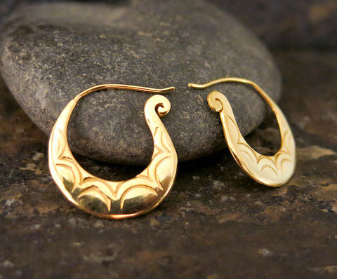 Spiral Gold Earrings by Georgie