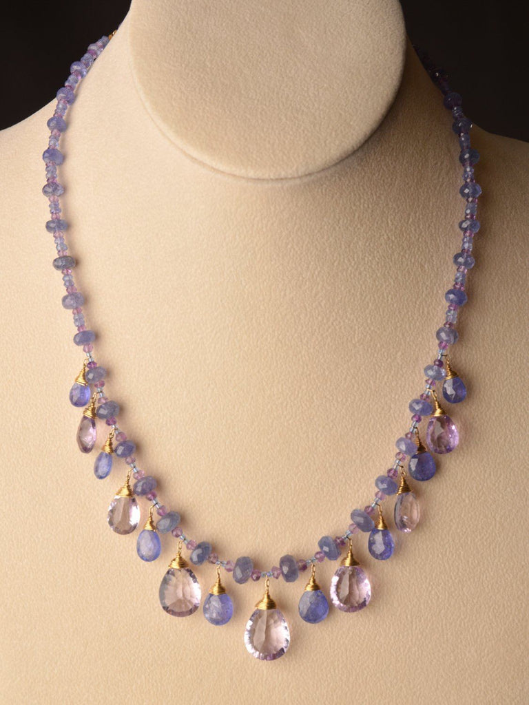 Watercolor Tanzanite 18kt Necklace