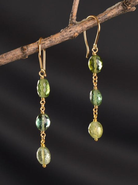 Green Goddess 18KT Earrings