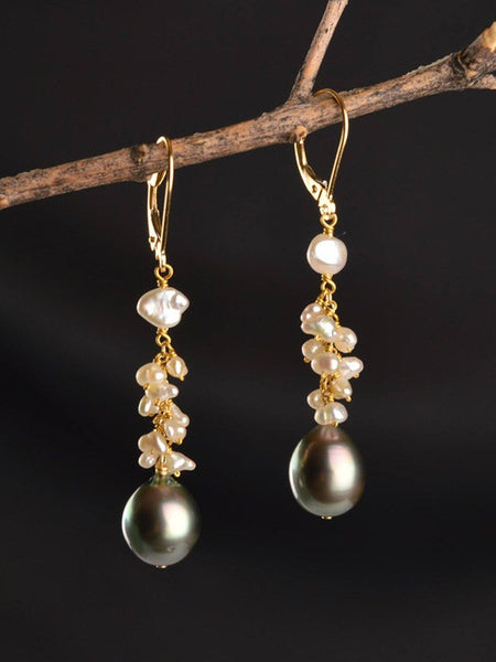 18kt Venus Cluster Earrings