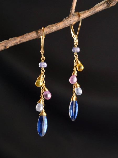 18kt Celestial Drop Earrings