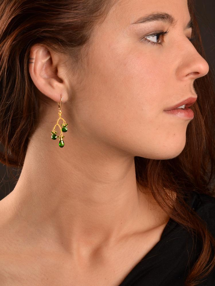 18kt Medeina Branch Earrings