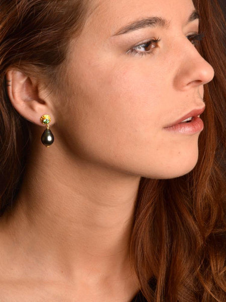 18kt Green Goddess Earrings