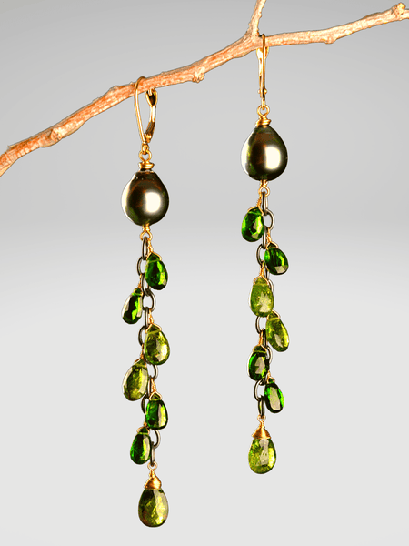 18kt Anastasia Vine Earrings
