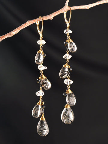 18kt Shadow Dance Vine Earring