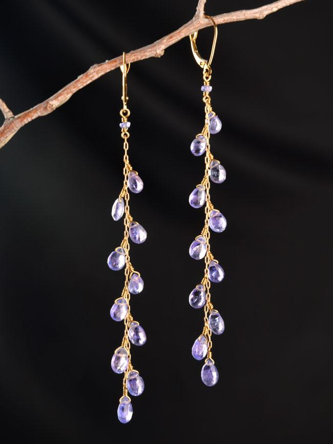 18kt Nightingale Long Earrings