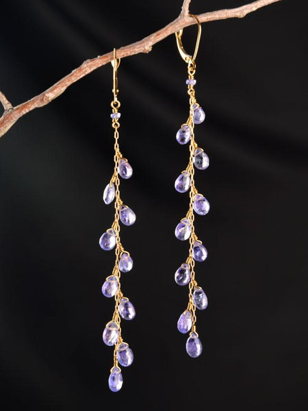 Nightingale Long 18kt Earrings