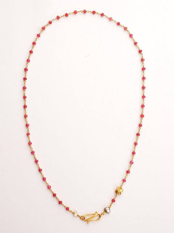 Ruby 18kt Chain