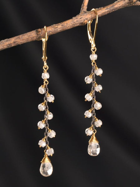 Gatsby 18kt Vine Earrings