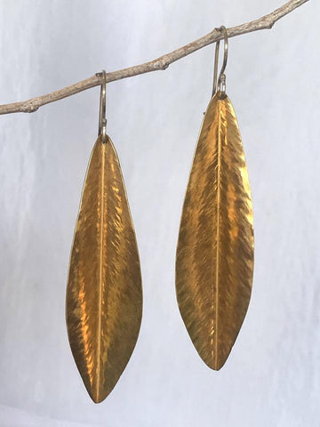 Long Brass Leaves by Ana