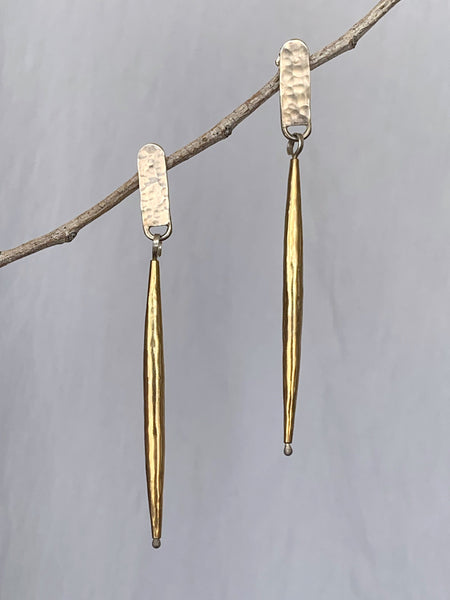 Short Post Bugle Earrings