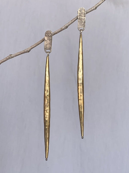 Long Post Bugle Earrings