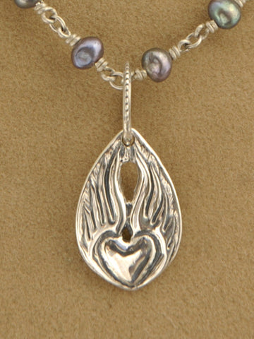 Small Heart & Wings Pendant