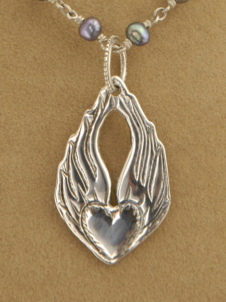 Large Heart & Wings Pendant