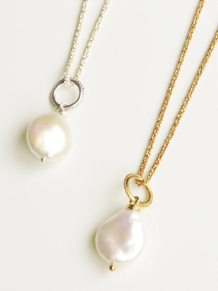 White Cultured Pearl Pendant
