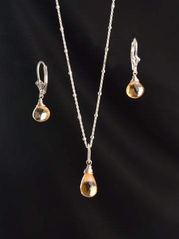 Citrine Rain Drop Gift Set