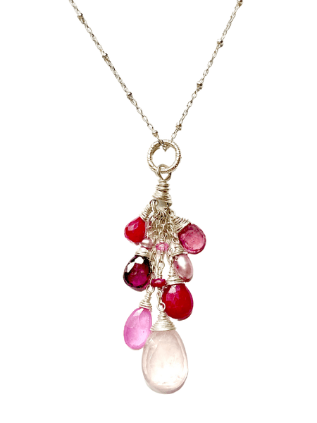 Blooming Heart Cluster Pendant