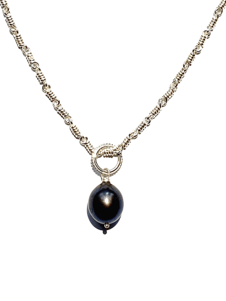 Dark Star Pearl Drop Pendant
