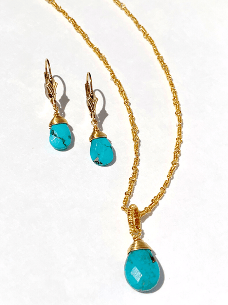 Turquoise Briolette Gift Set