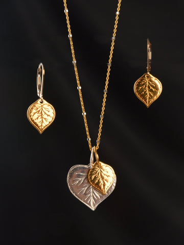 Aspen Leaf Silver & Gold Gift Set