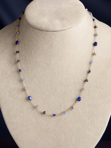 Asteria Blue Charm Necklace