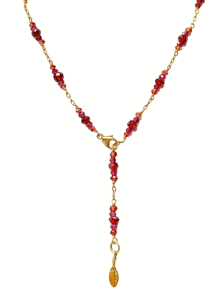 Desire Garnet Charm Necklace